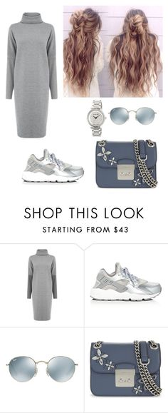 """Untitled #112"" by dorakat ❤ liked on Polyvore featuring Warehouse, NIKE, Ray-Ban and MICHAEL Michael Kors"