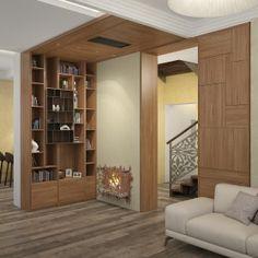 Classic wooden interior. Fire place decor. Камин декор интерьер. Book shelves. Шкаф с книгами дизайн.