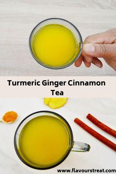 Ginger Tumeric Tea, Ginger Cinnamon Tea, Cinnamon Detox Tea, Tumeric Tea Recipe, Cinnamon Pie, Cinnamon Drink, Cinnamon Desserts, Turmeric Recipes, Cinnamon Cookies