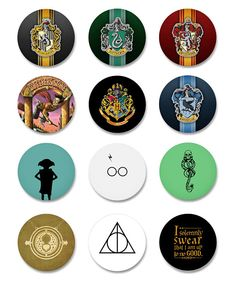 Harry Potter pinback buttons! All buttons come as 1.25 in diameter and are handcrafted with love. Just message us when purchasing the buttons to let us know which ones you want, otherwise well message you! Orders can be made for 6, 9, or the entire set of 12 buttons. Our buttons are