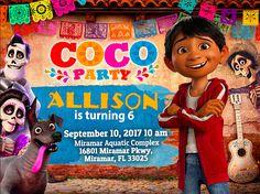 Birthday Invitation Disney Coco Party We deliver your order