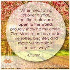 A flower doesn't try to open, it just opens. Thank you Lauren for this beautiful testimonial.