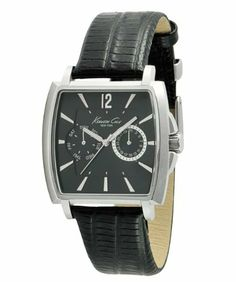 Kenneth Cole New York Men's KC1678 Iconic Strap Watch Kenneth Cole. $80.50. Water-Resistant to 165 feet (50M). Dependable Japanese Analog-Quartz movement. 3-hand multi-function analog Movement with date window. Solid stainless steel barrel case. High quality leather strap