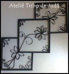 Atelier Tribe of Judah: Recycling – Rahmen aus Papierrollen und recyceltem Holz Toilet Paper Roll Art, Toilet Paper Roll Crafts, Cardboard Crafts, Diy Paper, Diy Wall Art, Diy Art, Wall Decor, Paper Towel Roll Crafts, Papier Diy