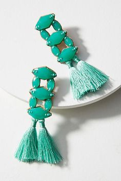 Combine textures with these stone and tassel earrings from Anthropology.