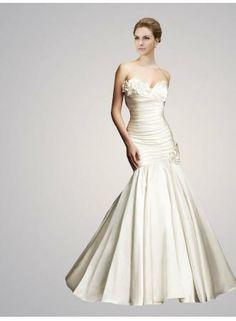 2017 Sweetheart Mermaid Wedding Dresses Flower Ruffles Sleeveless Lace Up Bride Gowns Ab9053 199 Babyonlinedress