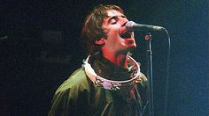 Liam Gallagher in top form at Glastonbury 1995