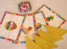 EASTER  American Girl Doll Table Placemat Set by DollPatchworks, $18.00