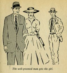 The well-groomed man gets the girl.