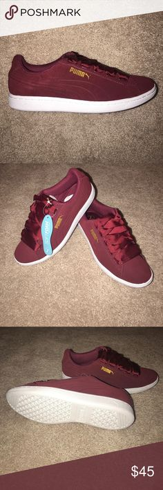 Women's Puma Vikky Ribbon size 7 Brand new in box pair of Women's Puma Vikky Ribbon size 7. These are suede Puma Shoes Athletic Shoes