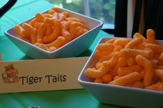 """safari themed baby shower - """"Tiger Tails"""" (cheetos)"""