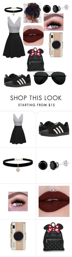 """minie mouse gone rogue"" by tkm123102 ❤ liked on Polyvore featuring adidas, Betsey Johnson and Kate Spade"