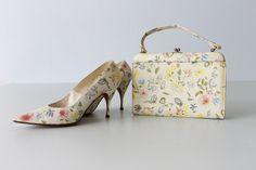 Vintage 1960s Handbag / 1960s Shoes / Matching Handbag and Heels ...