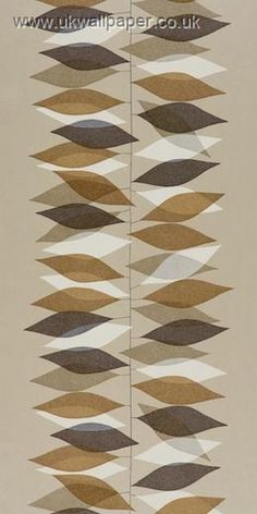 Sanderson 50's Wallpaper Miro DFIF210231 Oyster/Chocolate