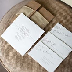 Love these simple invites! Beautiful!