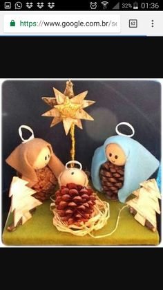 Christmas Crafts Sewing, Childrens Christmas Crafts, Christmas Projects, Holiday Crafts, Nativity Ornaments, Nativity Crafts, Christmas Manger, Kids Christmas, Jesus Crafts