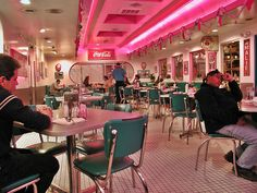 Route 66 Diner in Albuquerque, NM; reminds me of the brat pack movie Diner