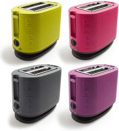 Colorful Bodum Bistro Toasters – Because There Is Such A Thing As Too Much Stainless Steel | OhGizmo!  In case you want something different.  I'd go with black or grey, but there a bunch of colors should you choose.