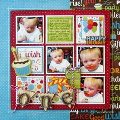 Ideas Birthday Pictures Ideas For Boys Scrapbook Layouts For 2019 Birthday Scrapbook Layouts, Baby Scrapbook Pages, Kids Scrapbook, Scrapbook Sketches, Scrapbook Page Layouts, Scrapbook Paper Crafts, Scrapbook Cards, Scrapbooking Ideas, Grid Layouts