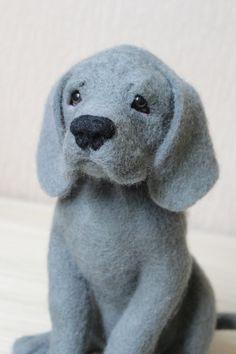 Needle Felted Great Dane Puppy, custom order, pet portrait