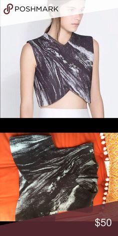 Zara marble crop top Crop top, OS Zara Tops Crop Tops
