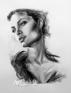 By Art Cindy MF / Cindy MARSOLLE Papier Canson A3, Ingres Blanc . Charcoal drawing on Ingres paper (Laid paper white by Canson) .