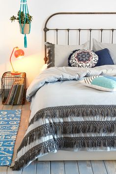 Magical Thinking Tassel Duvet Cover. If I could marry this in either of the colors it comes in, I would in a heartbeat...