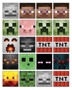 Free Printable Minecraft Cupcake Toppers High Resolution TNT Minecraft Cakes