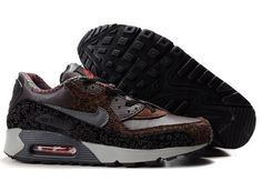 huge discount 5af89 c0f7b Nike Air Max 90 Chaussures Hommes Mode Noir Marron Argent Air Jordan,  Jordan Shoes,