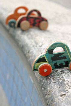 Car. via Etsy. Made from upcycled Skateboard. Cool.