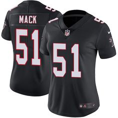 Nike Falcons #51 Alex Mack Black Alternate Women's Stitched NFL Vapor Untouchable Limited Jersey