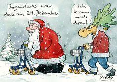"""Peter Gaymann Postkarte """"Irgendwas war doch am 24.Dezember"""""""