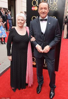 Spotlight: Dame Judi Dench (L) and Kevin Spacey (R) posed up a storm together