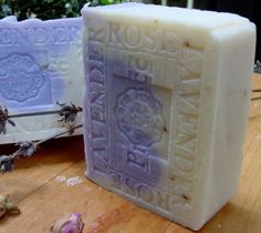 Natural Handcrafted Soap - Provence French Lavender with Crushed Rose Petals and Shea Butter Soap
