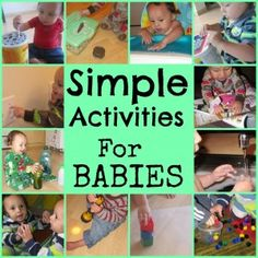 Simple Activities For Babies