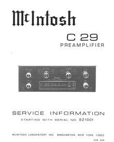 mcintosh c4 c4p original service manual pinterest rh pinterest com McIntosh Receiver Surround McIntosh MHT200 Specs
