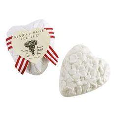 Gianna Rose Crystal White Heart Soap
