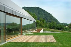 Casa con ampie vetrate