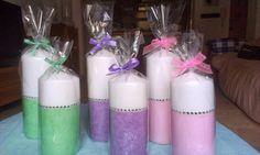 .: Velas en tonos pastel