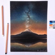 """"""" Galactic Eruption """" ☄️ Let me know what you think!  I did a time lapse…"""