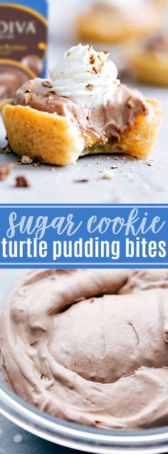 Sugar Cookie Turtle Pudding Bites | Chelsea's Messy Apron