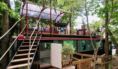 Situated just outside of Stockholm, Sweden you can vacation in this awesome bus converted into cabinwith a rooftop deck. I think this is by far my favorite bus conversion I have come across. Once ...