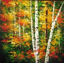 Landscape Paintings, Landscapes, Painting Inspiration, Still Life, Canvas, Birch Trees, Image, Google Search, Art