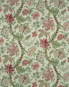 french+floral+wallpaper | ... tiny trailer includes this Bennison Banyan wallpaper on the inside