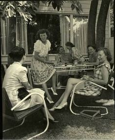 Women's Club,Westport, 1947.  The clothing!