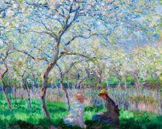 Colección de imágenes de la primavera interpretada por pintores y escultores en forma de paisajes, bodegones o alegorías.