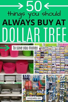 Ever wondered what to buy at the Dollar Tree? Well here is the most amazing list of you should buy at the Dollar Tree to save you money. I wouldn't buy these money saving essentials anywhere else. Saving Money Quotes, Best Money Saving Tips, Money Tips, Save Money On Groceries, Ways To Save Money, Groceries Budget, Money Budget, Dollar Store Hacks, Dollar Stores