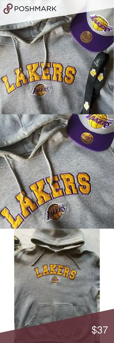 🏀Lakers Hooded Sweater 🌟🌟Laker fans!🌟🌟 Cold weather is coming! Gently used True to size sweater Pic#5 is just to show what the inside looks like.  No rips or stains  Message me for any other questions or make me an offer 🌟 Sweaters