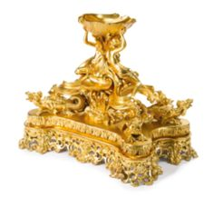 A Louis XV style gilt bronze caviar server centerpiece Paris, Late 19th/Early 20th Century Estimate  8,000 — 12,000  USD   LOT SOLD. 10,625 USD Sotheby's