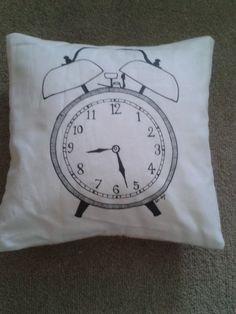 Mother's Day - lovely hand drawn & sewn cushion